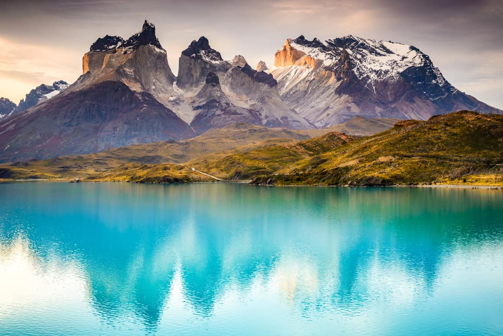 Camping at Torres del Paine National Park Patagonia, Chile