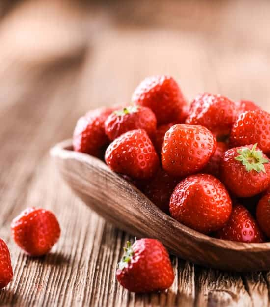 The red color in strawberries signal a healthy benefit you need.